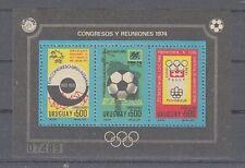 Football Uruguay Block 21 WM Germany 1974 (MNH)