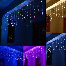 Lichterketten Eiszapfen Vorhang LED Beleuchtung Innen Außen Weihnachtsdekoration