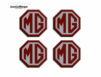 MG ZR Alloy Wheel Centre Caps Badges Burgundy & Silver 45mm Hub Cap Badge