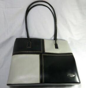 Trevi Handbag Women's. 2 Tone Pattern. Synthetic Material