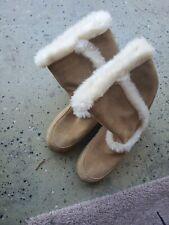 New Sonoma Women's Faux Fur Suede Winter Boots Size 7 1/2