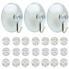 15x Suction Cups Window Glass Hooks Bathroom Kitchen Strong Towel Hanger Suckers