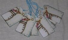 9 Primitive Whimsical Christmas Snowman Hang Tags Gift Ties Party Decor