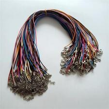 Mixed color Leather Snake Necklace Cord String Rope Wire 45cm Extender 100pcs