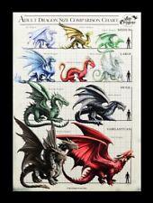 Kleine Leinwand - Drachen Größentabelle - Anne Stokes Fantasy Bild Druck Deko
