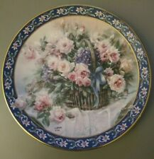 """Lena Liu's Basket Bouquets """"Roses"""" Collector 1992 Plate 16798 porcelain limit"""