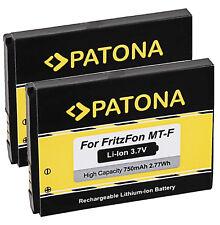 2x Akku 312BAT006 für AVM Fritz! Fon MT-F / M2 / C4 / C5 750mAh 3,7V Patona