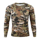 Army Mens Tactical Combat Long Sleeve T-Shirt Military Outdoor Camouflage Casual