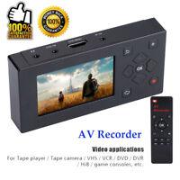 """3 """"Convertisseur Audio Vidéo Enregistreur AV TFT Capture VHS Magnétoscope"""