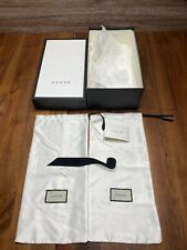 Gucci Empty Shoe Box With * 2 Dust Bags * Ribbon * Tissues * Card *