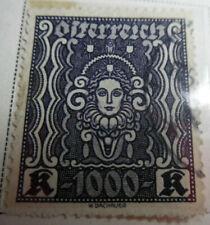 Austria 1922-24 Stamp 1000 Kronen MNH Stamp StampBook1-15