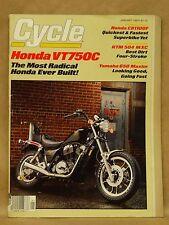 Vtg Motor Cycle Magazine January 1983 Honda VT750 CB1100 KTM MXC Yamaha XJ650