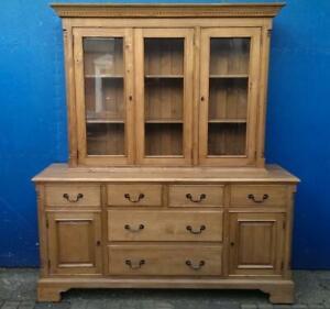 Large Solid Pine Dresser Sideboard Display Cabinet