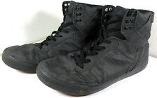 Supra Skytop Muska 001 Leather Skate Shoes Red Soles Black Size 9.5 US Men's