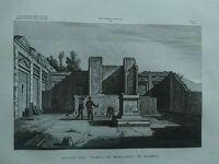 1845 Zuccagni-Orlandini Avanzi del Tempio di Mercurio in Pompei