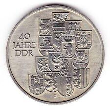 10 Mark Gedenkmünze, 40 Jahre DDR