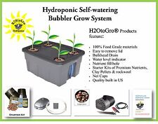 Complete Hydroponic Systems DWC Self-watering BUBBLER Kit #4-4 H2OtoGro