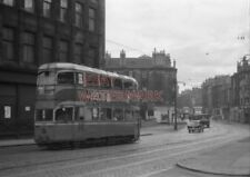 PHOTO  GLASGOW TRAM NO 1154 IN LONDON ROAD AT TOBAGO STREET 30/8/62