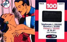 1822 SCHEDA RICARICA USATA TIM NARDA 18M 100 FEB.2002 OCR 15 CAB 26