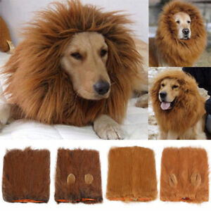 Pet Clothes Christmas Dog Costumes Lion Mane Wig for Large Dogs Fancy Dress Up