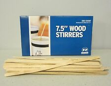"500 WOOD COFFEE STIRRERS 7.5"" STIR WOODEN CRAFT POPSICLE CUPCAKE STICKS"