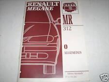 Workshop Manual Renault Megane General Information, Piece 1995