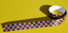 RAT LOOK 'RUSTY EFFECT' CHEQUERED TAPE retro sticker decal 1220x30mm 2 LENGTHS!