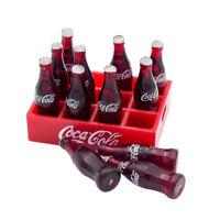 12X Coke Bottles in Tray Miniature 1:12 Dollhouse Dink Toy Gift Decor