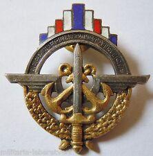 Insigne ancien RECRUTEMENT ET STATISTIQUES Armée Française émail ORIGINAL