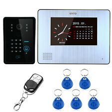 "7"" Color LCD Video Door Phone System Wired Intercom Doorbell Rainproof IR Camera"