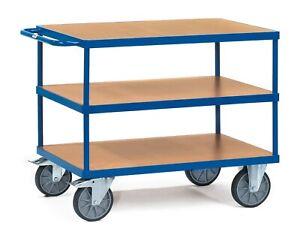 Schwere Tischwagen Etagenwagen Transportwagen 242- Bremsenwahl fetra Girse