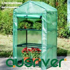 New 3-Tier Garden Greenhouse Green House Hot Plant House Shed Durable PE Cover