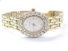 18Kt Tourneau Mother of Pearl Dial NATURAL Diamond Yellow Gold Watch 2.30Ct
