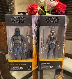"""Star Wars Black Series Ahsoka Tano + Mandalorian Loyalist Clone Wars 6"""" Walmart"""