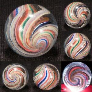 STUNNING Handmade 3/4 SHOOTER DIVIDED Core Vintage Marble Mint- hawkeyespicks sg