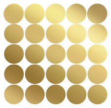 50 Kreative Klebepunkte Dots MATT GOLD 1 bis 10cm Wandtattoo Aufkleber Sticker