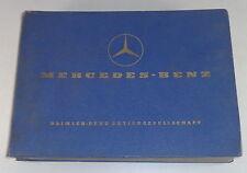 Catalogo Ricambi Mercedes-Benz Ponton W120 180a Stand 04/1959
