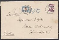 segnatasse Regno 1 lira varietà con cifra spostata su lettera 1926 dall'Austria