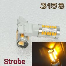 Strobe Flash Rear Turn Signal T25 3156 3456 SMD Amber LED Light K1 For GM HA