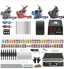 Complete Tattoo Kit 4 Pro Machine Guns 54 Inks Power Supply Carry Case