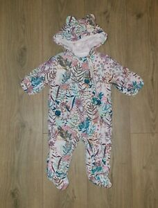 Baby Girls Next Floral Pramsuit Age 3-6 Months