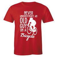 Never Underestimate An Old Guy On A Bicycle Funny Shirt Men's T-shirt Tee