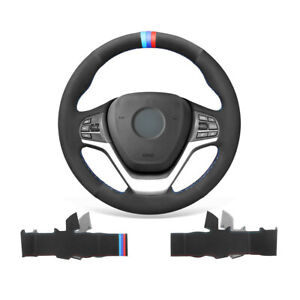 Soft Non-slip Suede Car Steering Wheel Cover Wrap For BMW X5 F15 X5 M F85 X6 F16