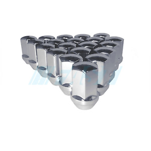 Lug Nuts Factory Fit Chrome 24 Pieces 14x1.5 Fits Chevy GMC 1500 6 Lug Trucks