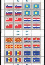 United Nations SC #795-802a FLAG SERIES MNH SS Croatia Palau Tonga Nauru Andorra