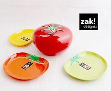 ZAK design Tomaten Set 4-tlg Schüssel + 3 Teller Outdoor Camping Party BBQ