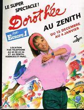 Publicité advertising 1986 Concert Dorothée au Zenith