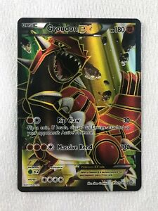 Groudon EX FULL ART ULTRA RARE 150/160 XY Primal Clash Pokemon  TCG NM-LP HOLO