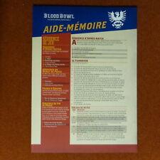 BLOOD BOWL AIDE MEMOIRE DOUBLE FEUILLE CARTONNEE EDITION SECONDE SAISON FR