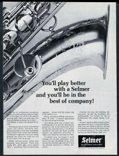 1970 Selmer Mark VI saxophone photo vintage print ad